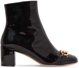 Salvatore Ferragamo 55mm Primula Patent Leather Boots