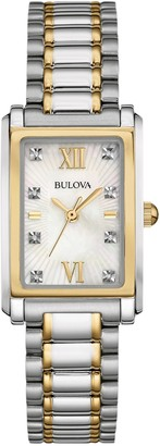 Bulova Women's Diamond Two Tone Stainless Steel Watch - 98P144