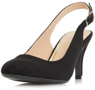 Dorothy Perkins Womens *Head Over Heels by Dune Black 'Carrla' Ladies Mid Heel Shoes