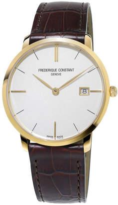 Frederique Constant Men's Classics Slimline Midsize Quartz Watch