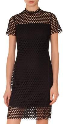Akris Punto Crochet Shift Dress