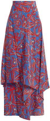 Diane von Furstenberg Elsden-print silk-crepe maxi skirt