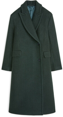 Arket Double-Breasted Wool Coat