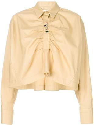 Carven cropped flared shirt