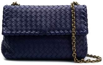 Bottega Veneta dark navy Intrecciato nappa small Olimpia bag