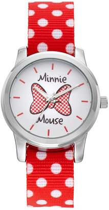 Disney Disney's Minnie Mouse Bow Women's Polka Dot Reversible Watch