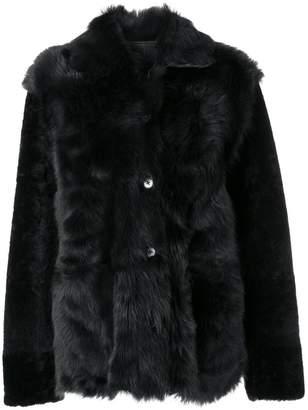 Jil Sander single breasted fur jacket