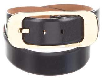 Michael Kors Oversize Buckle Leather Belt