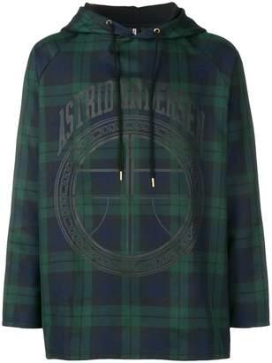 Astrid Andersen tartar logo print hoodie