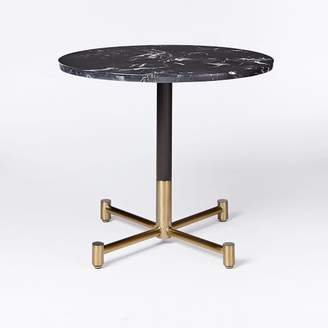 west elm Black Marble Round Bistro Table - Large