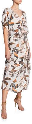 Rachel Pally Plus Size Rae Printed Crepe Short-Sleeve Shift Dress