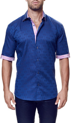 Maceoo Fresh Short Sleeve Contemporary Fit Printed Shirt (Big & Tall Available) $169 thestylecure.com