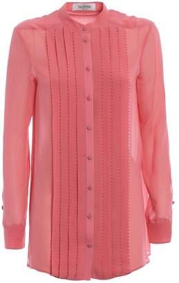 Valentino Embellished Pleated Shirt