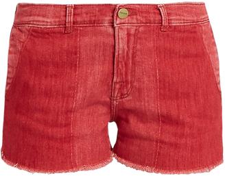 FRAME Le Cutoff raw-hem denim shorts $230 thestylecure.com