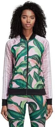 adidas Farm Big Leaf Satin Track Top - Women's