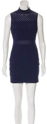 Elizabeth and James Laser Cut Mesh-Trimmed Dress