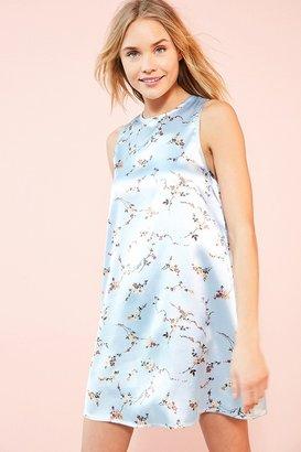 Kimchi Blue Carmine Satin Frock Mini Dress $59 thestylecure.com