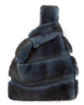 Simonetta Ravizza Mink Striped Furrissima Tote Bag