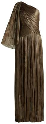 Maria Lucia Hohan Aquila One Shoulder Pleated Dress - Womens - Dark Grey