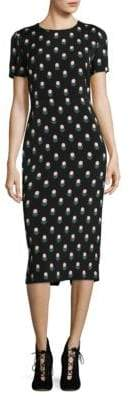 Diane von Furstenberg Printed Short Sleeve Midi Dress