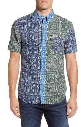 Reyn Spooner Lahaina Colorblock Regular Fit Sport Shirt
