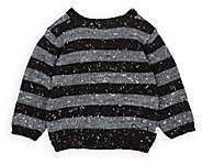 Mini Sibling Infants' Striped Stockinette-Stitched Sweater