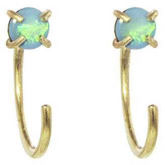 Melissa Joy Manning Opal Hug Earrings - Yellow Gold