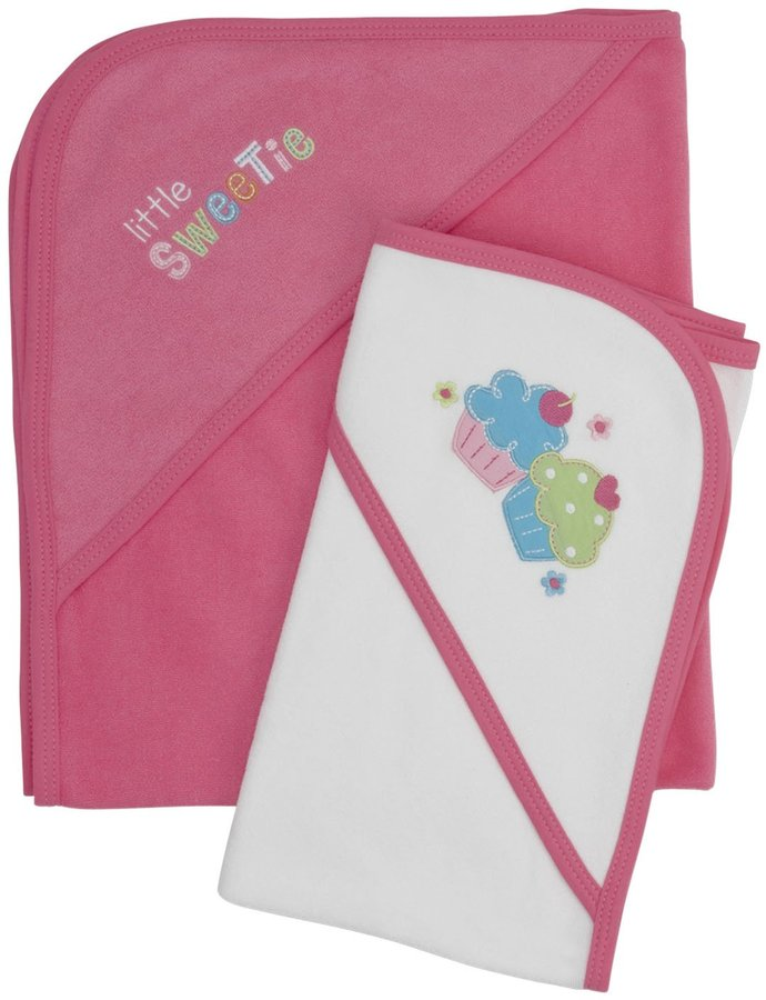 Gerber 2-Pk Hooded Towels - Pink-One Size