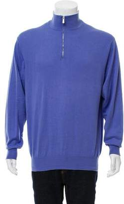 Loro Piana Woven Half-Zip Sweater
