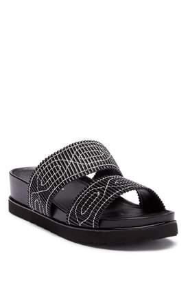 Donald J Pliner Cait Embroidered Slide Sandal