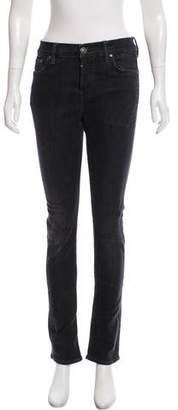 AllSaints Mid-Rise Straight-Leg Jeans