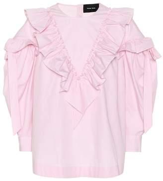 Simone Rocha Ruffled cotton blouse
