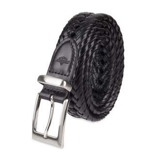 Dockers Men'smm Laced Braid Metal Logo Belt
