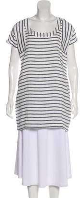Solid & Striped Striped Short Sleeve Tunic