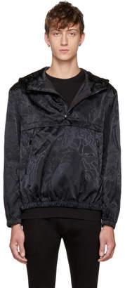Versace Black Liberty Jacquard Windbreaker Jacket