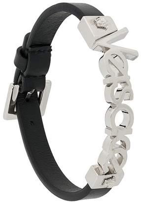 Versace logo Medusa detail bracelet