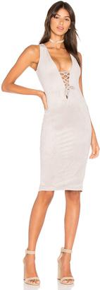 Nookie Lace Up Midi Dress $229 thestylecure.com