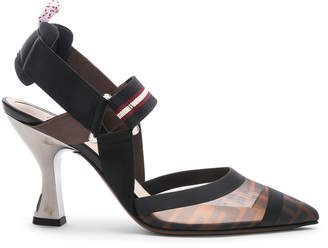 Fendi Colibri Slingback Heels in Black | FWRD