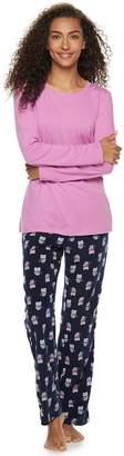 Sonoma Goods For Life Women's SONOMA Goods for Life Tee & Printed Fleece Pants Pajama Set