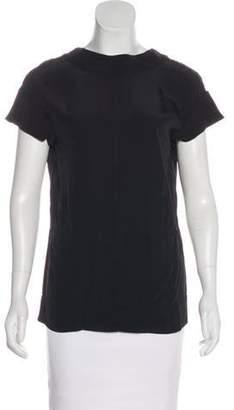 Marni Short Sleeve Low Back Top Black Short Sleeve Low Back Top