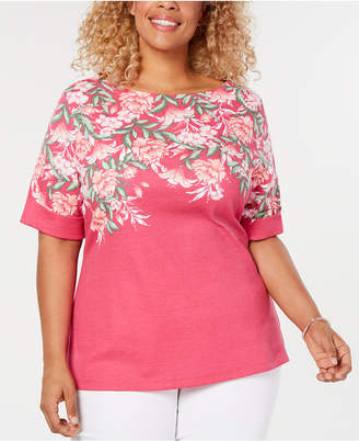 Karen Scott Plus Size Printed Top