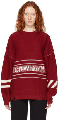 Off-White Off White Red Logo Inside Out Sweater