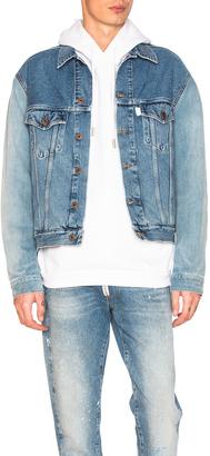 OFF-WHITE Denim Jacket $1,294 thestylecure.com