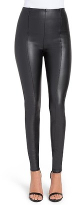 Women's Lysse High Waist Faux Leather Leggings $108 thestylecure.com