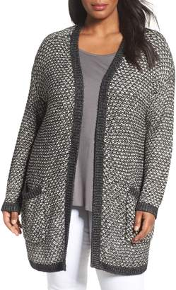 Caslon r Textured Open Front Cardigan