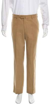 Luciano Barbera Flat Front Casual Pants