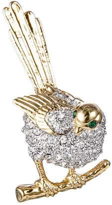 clear Ever Faith Gold-Tone Austrian Crystal Shining Lovely Cuckoo Bird Brooch Pin N07784-1