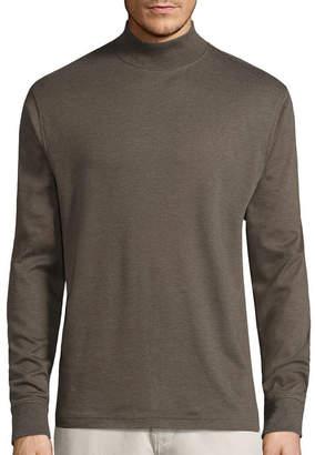ST. JOHN'S BAY Long-Sleeve Mockneck Shirt