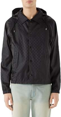 Gucci GG Jacquard Print Nylon Jacket