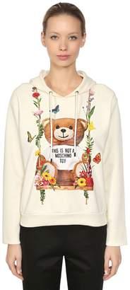 Moschino Slim Fit Bear Hooded Jersey Sweatshirt
